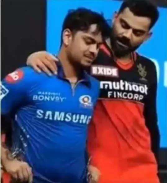 Virat Kohli seen consoling Ishan Kishan after a disappointing innings